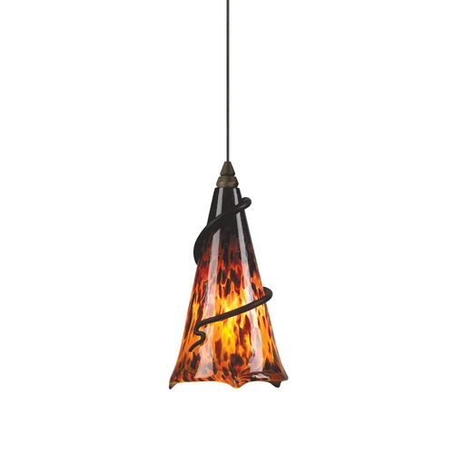 Tech Lighting Murano Glass Mini-Pendant 700-FJ4RFZ/700-FJMOVTAZ/700FJMOVRI