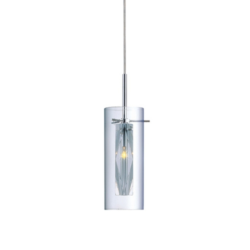Lite Source Lighting Clarte Cylindrical Mini-Pendant with Crystal Accent LS-19959C/CLR