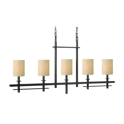 Hinkley Lighting Island Light with Beige / Cream Shades in Regency Bronze Finish 4544RB