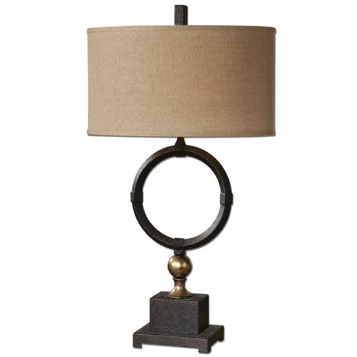 Uttermost Lighting Uttermost Pueblo Black Circle Table Lamp 26296-1