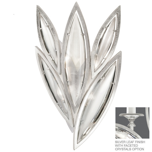 Fine Art Lamps Fine Art Lamps Marquise Platinized Silver Leaf Sconce 849050-12ST