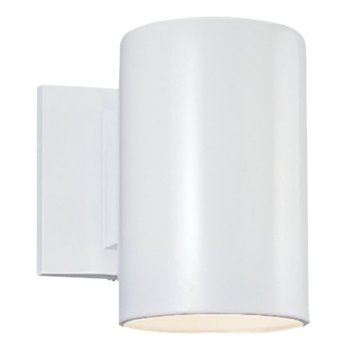 Sea Gull Lighting Sea Gull Lighting Outdoor Bullets White Outdoor Wall Light 8313801-15