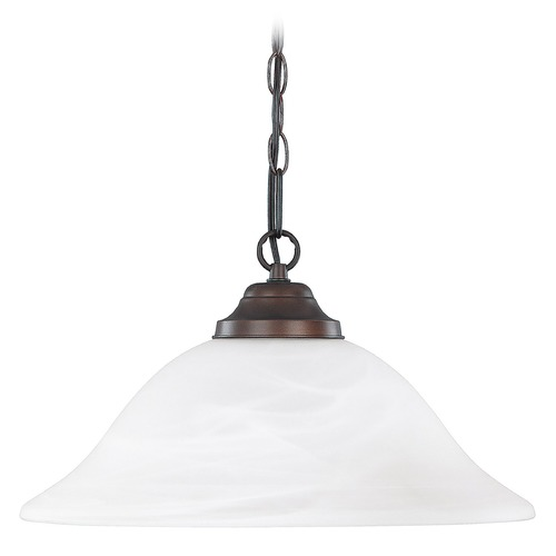 Capital Lighting Capital Lighting Burnished Bronze Pendant Light with Bowl / Dome Shade 3907BB
