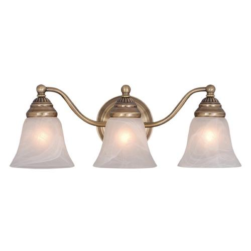 Antique Brass Bathroom Lighting: Standford Antique Brass Bathroom Light By Vaxcel Lighting