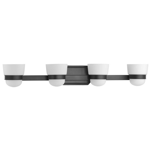 Progress Lighting Progress Lighting Index Black 4-Light Bathroom Light P300079-031