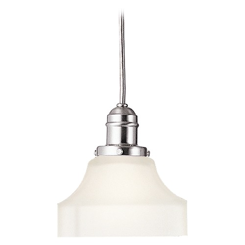 Hudson Valley Lighting Mini-Pendant Light with White Glass 3101-SN-119