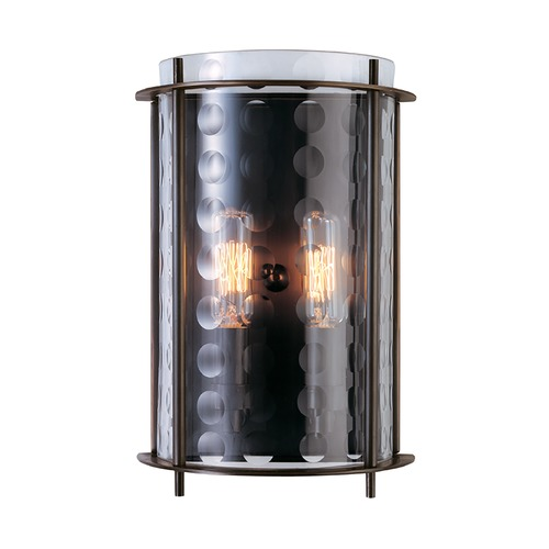 Hudson Valley Lighting Modern Sconce Wall Light with Clear Glass in Old Bronze Finish 7602-OB