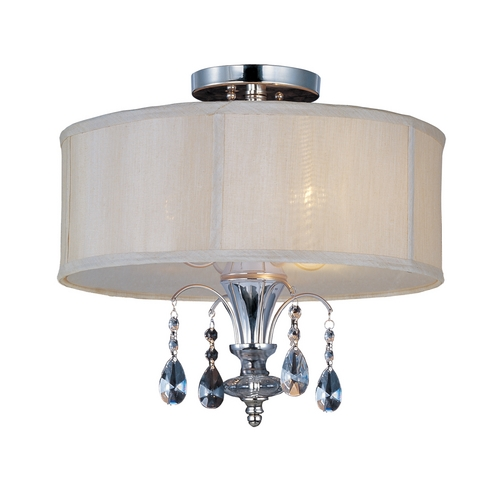 Maxim Lighting Maxim Lighting Montgomery Polished Nickel Semi-Flushmount Light 24301CLBSPN