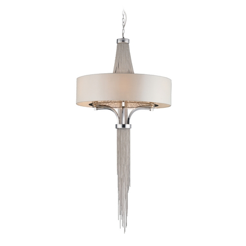 PLC Lighting Modern Drum Pendant Lights in Polished Chrome Finish 70033 PC