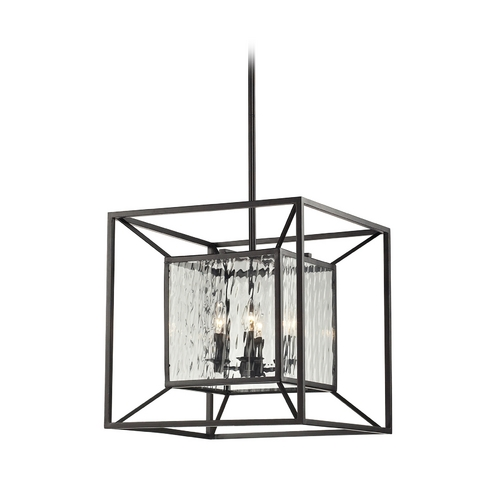 Elk Lighting Pendant Light with Clear Glass in Oiled Bronze Finish 14122/4