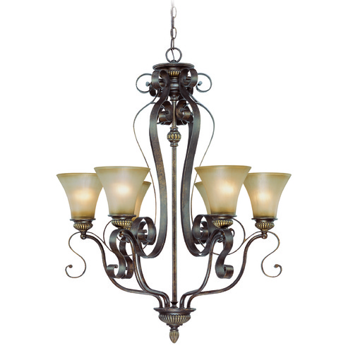Jeremiah Lighting Jeremiah Kingsley Century Bronze Chandelier 26526-CB