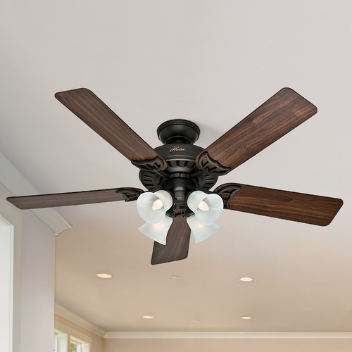 Hunter Fan Company Hunter Fan Company Studio Series New Bronze Ceiling Fan with Light 53067