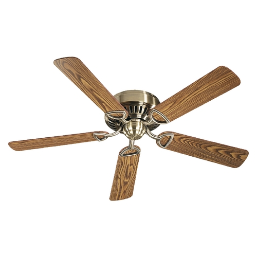 Quorum Lighting Quorum Lighting Medallion Antique Brass Ceiling Fan Without Light 51525-4