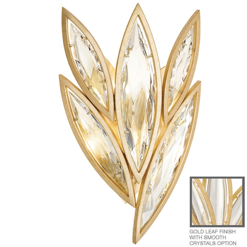 Fine Art Lamps Fine Art Lamps Marquise Florentine Brushed Gold Leaf Sconce 849050-21ST