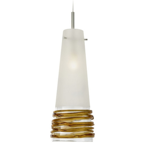 Oggetti Lighting Oggetti Lighting Fili Satin Nickel Mini-Pendant Light with Conical Shade 29-101B