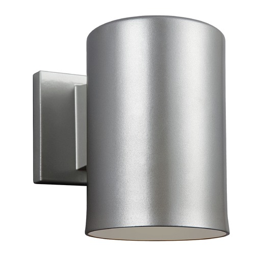 Sea Gull Lighting Sea Gull Lighting Outdoor Bullets Painted Brushed Nickel Outdoor Wall Light 8313801-753