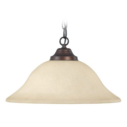 Capital Lighting Capital Lighting Burnished Bronze Pendant Light with Bowl / Dome Shade 3907BB-MS