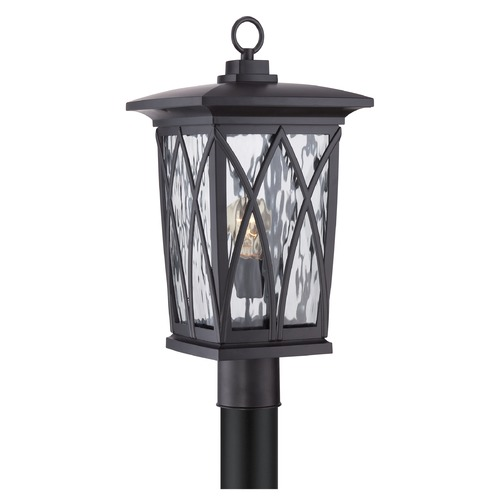 Quoizel Lighting Quoizel Grover Mystic Black Post Light GVR9010KFL