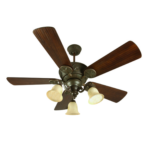 Craftmade Lighting Craftmade Lighting Chaparral Aged Bronze Textured Ceiling Fan with Light K10408