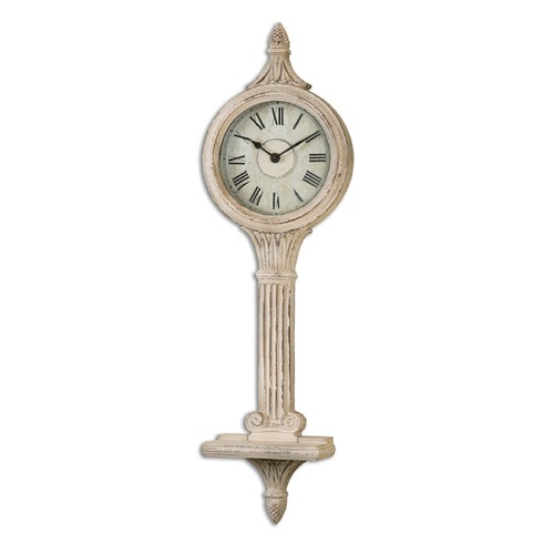 Uttermost Lighting Uttermost Louisa Antiqued Ivory Wall Clocks 06427
