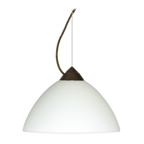 Besa Lighting Besa Lighting Tessa Bronze LED Pendant Light with Bell Shade 1KX-420107-LED-BR