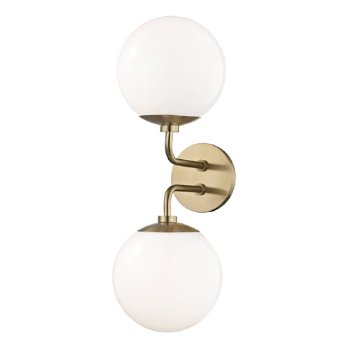 Mitzi by Hudson Valley Stella Aged Brass Sconce Mitzi by Hudson Valley H105102-AGB