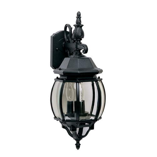 Maxim Lighting Outdoor Wall Light with Clear Glass in Black Finish 1034BK