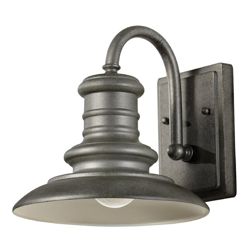 Feiss Lighting Feiss Lighting Redding Station Tarnished Silver LED Barn Light OL8600TRD-L1