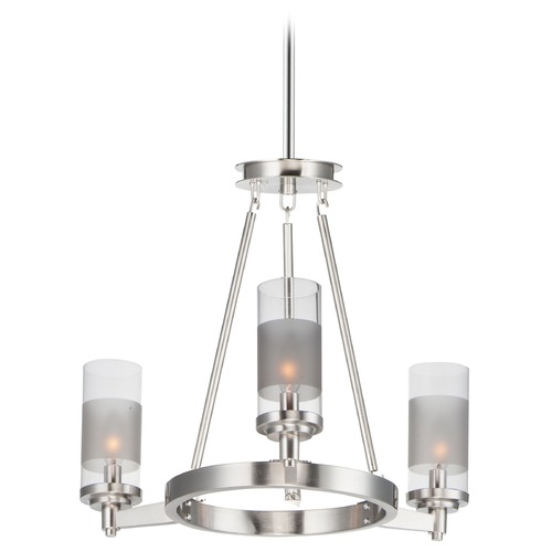 Maxim Lighting Maxim Lighting Crescendo Satin Nickel Mini-Chandelier 26325CLFTSN