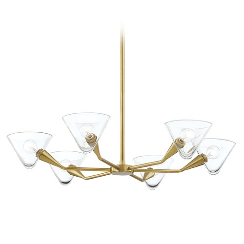 Mitzi by Hudson Valley Mitzi By Hudson Valley Isabella Aged Brass Chandelier H327806-AGB