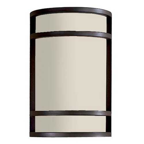 Minka Lavery Modern Outdoor Wall Light with White Glass in Oil Rubbed Bronze Finish 9802-143