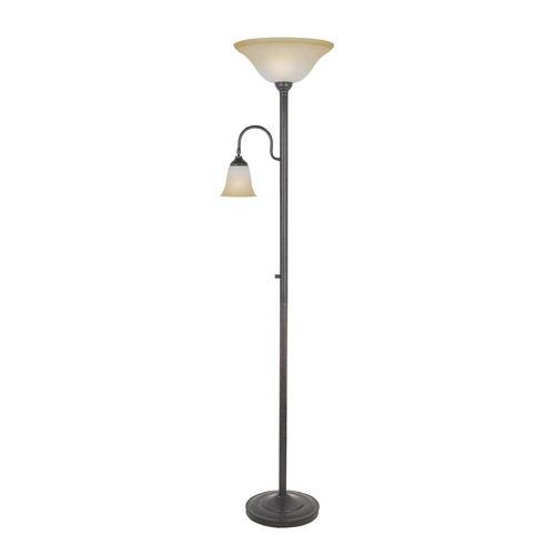 Lite Source Lighting Lite Source Lighting Thiago Bronze Torchiere Lamp with Bell Shade LS-81936D/BRZ