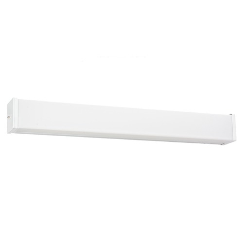 Sea Gull Lighting Modern Bathroom Light with White in White Finish 49026LE-15