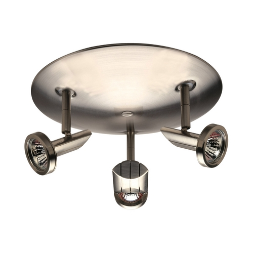 PLC Lighting Modern Directional Spot Light in Satin Nickel Finish 7003 SN