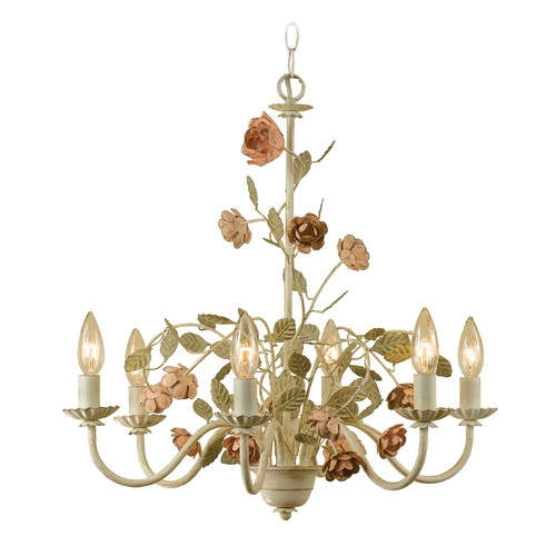 AF Lighting Ramblin' Rose Chandelier 7050-6H