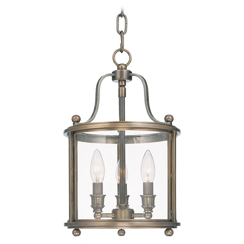 Hudson Valley Lighting Modern Pendant Light with Clear Glass in Distressed Bronze Finish 1310-DB