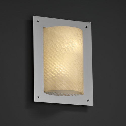 Justice Design Group Justice Design Group Fusion Collection Sconce FSN-5563-WEVE-CROM