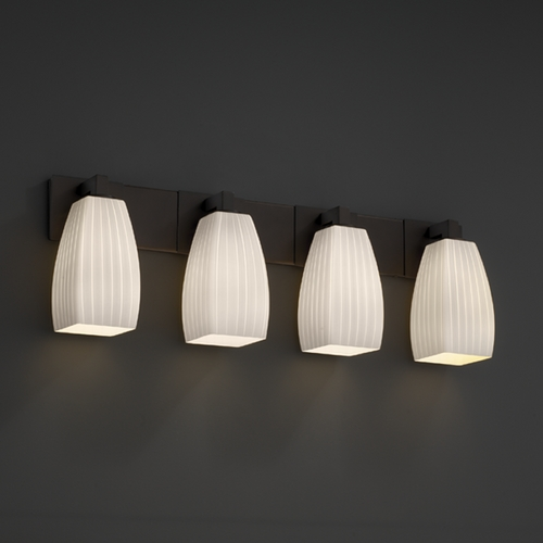 Justice Design Group Justice Design Group Fusion Collection Bathroom Light FSN-8924-65-RBON-DBRZ