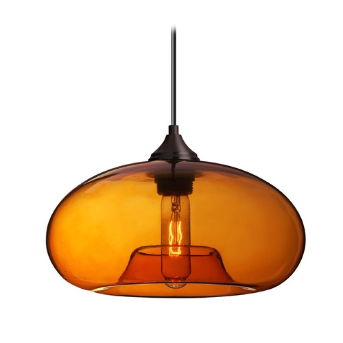 Besa Lighting Besa Lighting Bana Bronze Pendant Light with Oblong Shade 1JT-BANAAM-BR