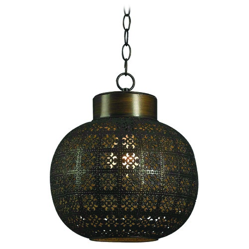 Kenroy Home Lighting Kenroy Home Lighting Seville Aged Bronze Mini-Pendant Light with Globe Shade 92055ABR