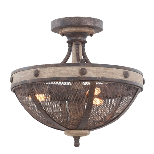 Kalco Lighting Kalco Lighting Coronado Florence Gold Semi-Flushmount Light 7047FG