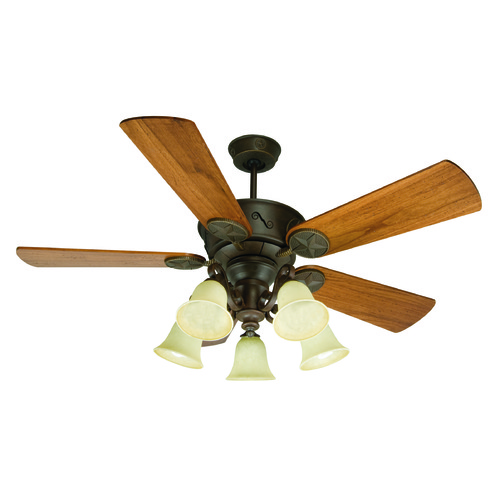 Craftmade Lighting Craftmade Lighting Chaparral Aged Bronze Textured Ceiling Fan with Light K10409