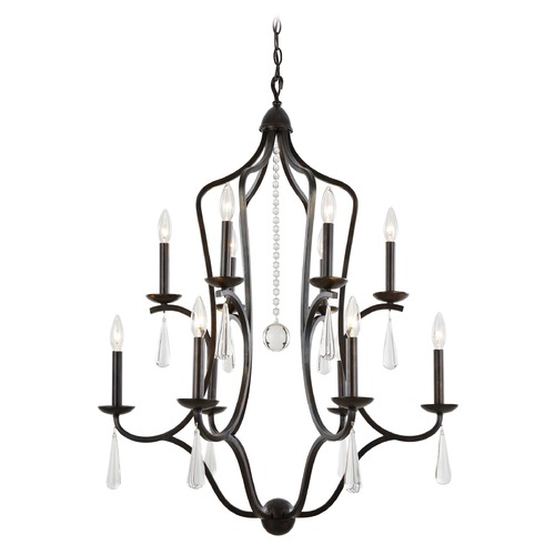 Crystorama Lighting Crystorama Lighting Manning English Bronze Crystal Chandelier 5978-EB