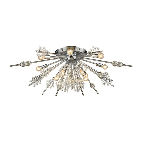 Elk Lighting Elk Lighting Starburst Polished Chrome Semi-Flushmount Light 11749/12