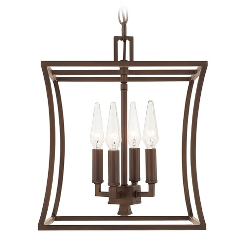 Capital Lighting Capital Lighting Westbrook Burnished Bronze Pendant Light with Rectangle Shade 510141BB
