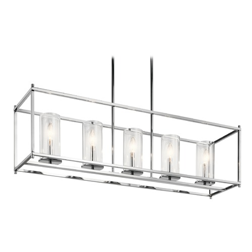 Kichler Lighting Modern Linear Chandelier Chrome Crosby by Kichler Lighting 43995CH