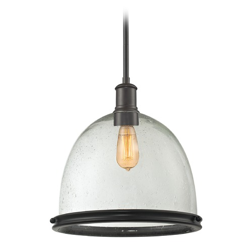 Z-Lite Z-Lite Mason Bronze Pendant Light with Bowl / Dome Shade 716P13-BRZ