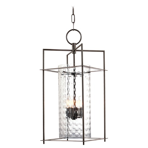 Hudson Valley Lighting Modern Mini-Pendant Light with Clear Glass in Old Bronze Finish 7609-OB