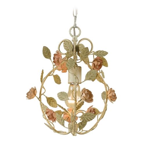 AF Lighting Mini-Chandelier in Cream Finish 7051-1H
