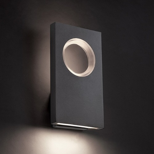 Modern Forms by WAC Lighting WAC Void Black LED Outdoor Wall Light WS-W5122-BK